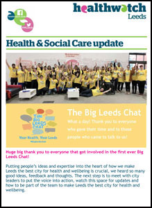 Image of Healthwatch Leeds Newsletter